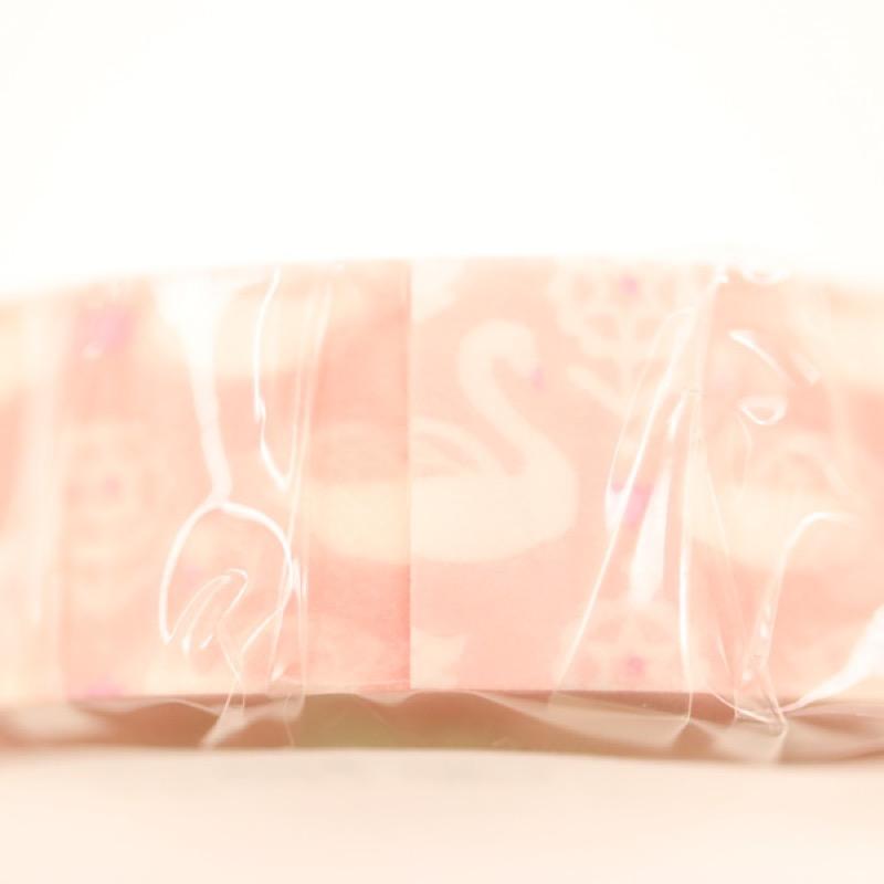 プチジョア マスキングテープ スワン ピンク 15mm×18m