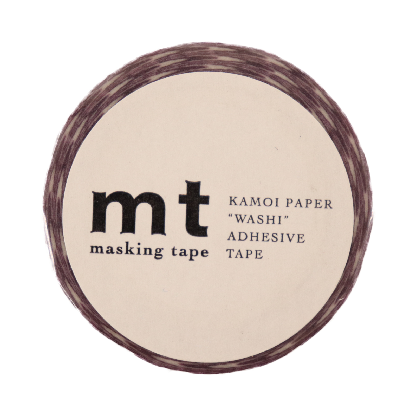 マスキングテープ ストライプ・パープル 幅15mm×10m巻