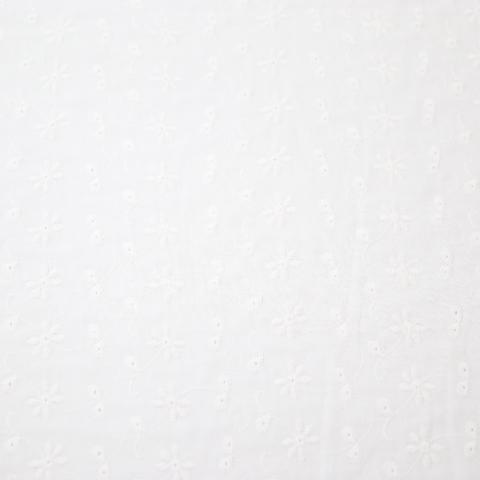 ダブルガーゼAOレース フラワー柄(50cm単位)