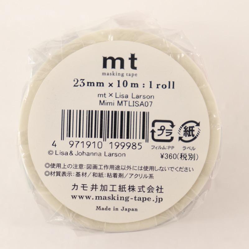 マスキングテープ mt×Lisa Larson 幅23mm×10m巻