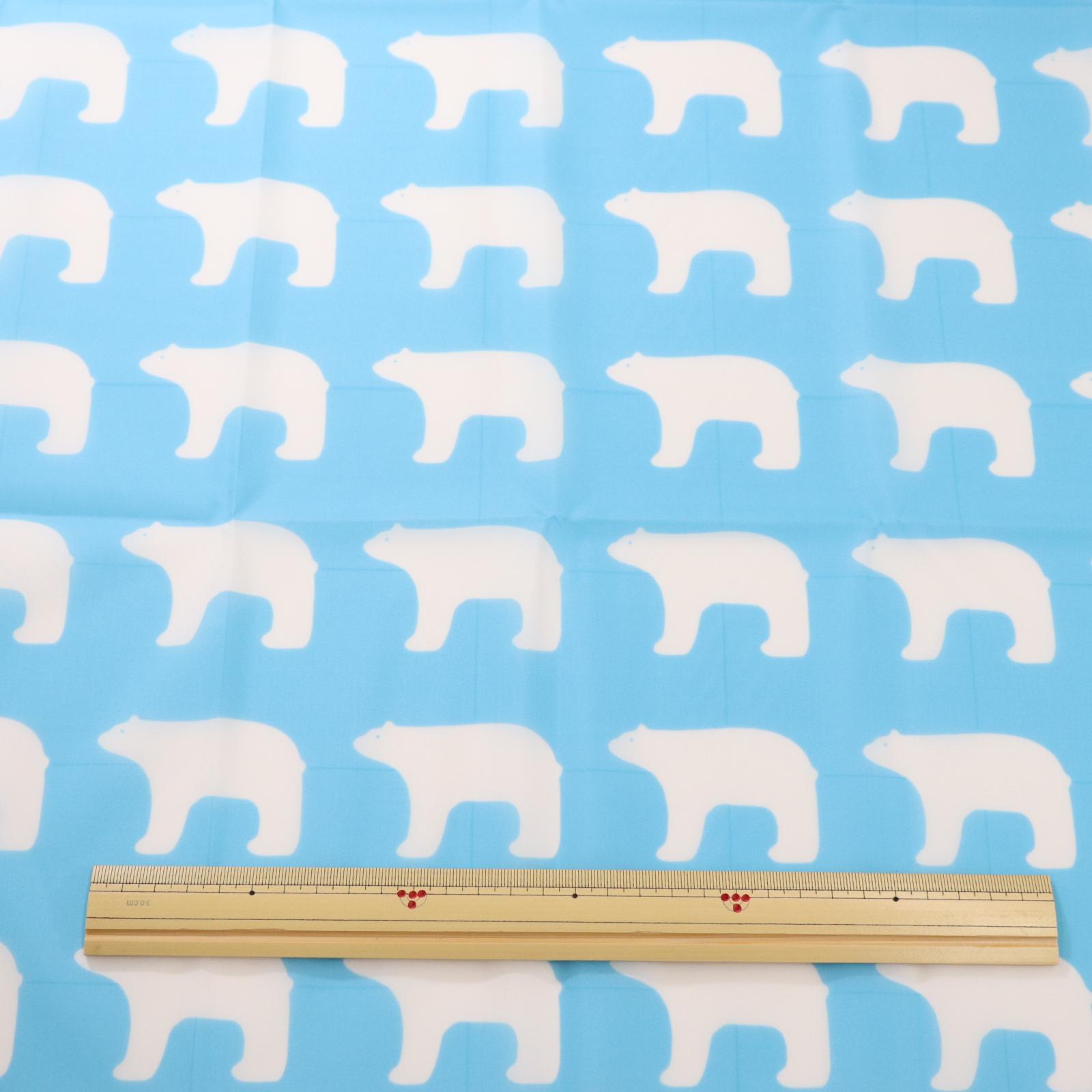 kippis(キッピス)【ナイロンタフタ】シロクマ柄【60cmカットクロス】