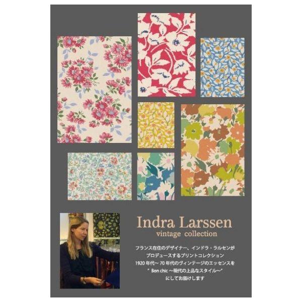 生地 【商用利用OK】Indra Larssen インドラ ラルセン オックス 小さなブーケ柄 DR59900-2