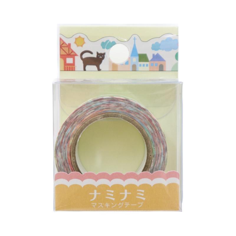 ナミナミ マスキングテープ カントリー 幅15mm×10m巻
