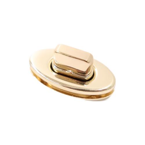 バッグ金具 楕円 ヒネリタイプ ゴールド