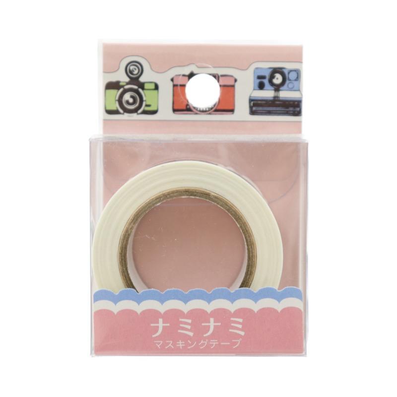 ナミナミ マスキングテープ カラフル・カメラ 幅15mm×10m巻