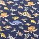 生地 ツイルプリント ウミガメ柄