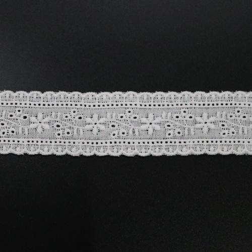 ダブルガーゼレース(オフ)RG3004(50cm単位)
