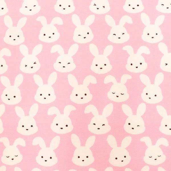 生地 ウサギ柄プリント