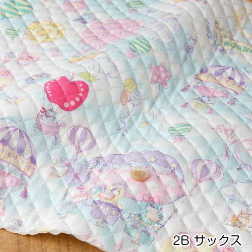 絵子猫(エコネコ)オックス【キルト】Journey柄サックス(50cm単位)