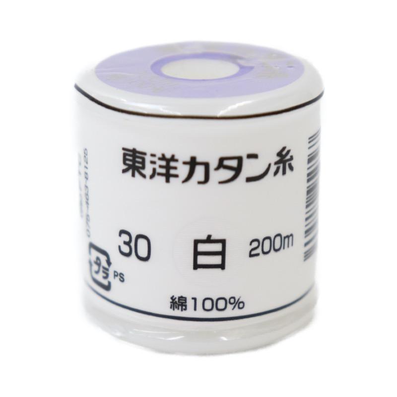 東洋カタン糸 白 30 200m