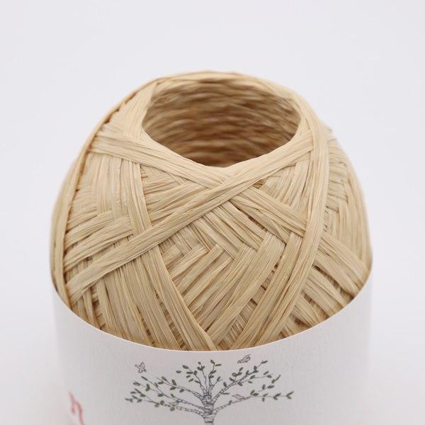 ハマナカ 編みつける口金13cmのエコアンダリヤのぺたんこがま口AMU-701