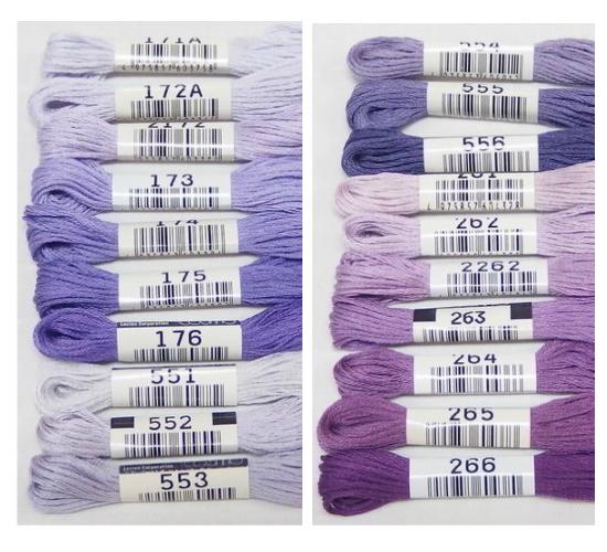 コスモ25番刺繍糸【紫・グレー系】
