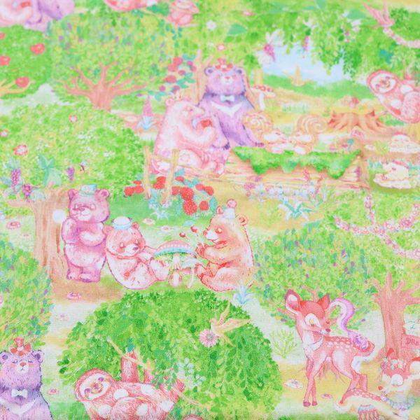 絵子猫(エコネコ)オックス ハーヴェストフォレスト柄(50cm単位)