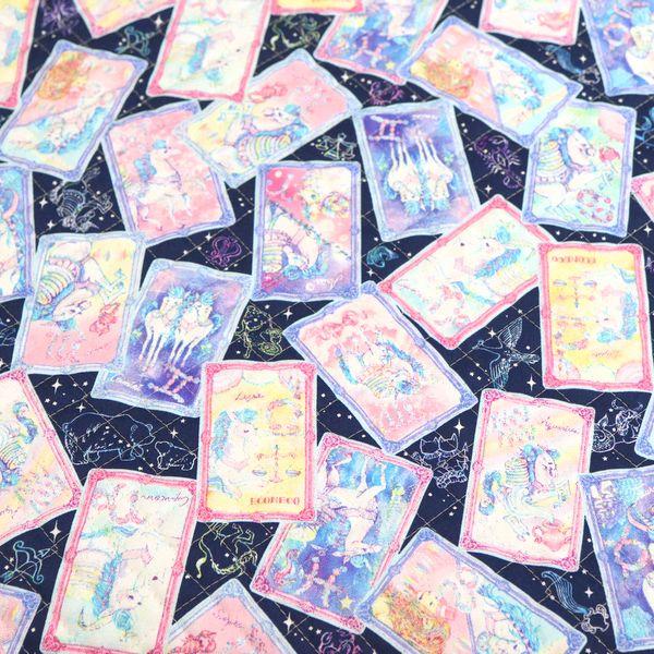 絵子猫(エコネコ)オックス【キルト】 タロットカード柄(50cm単位)
