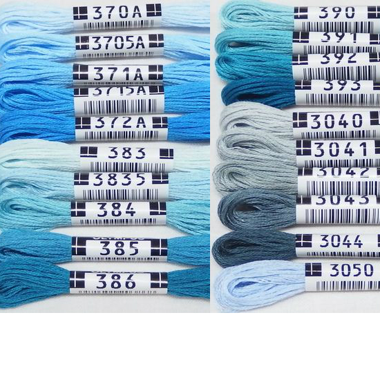 オリムパス25番刺繍糸 【青系】