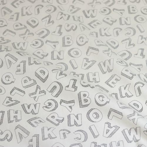 オックスプリント アルファベット柄(50cm単位)