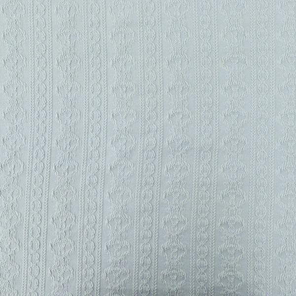 生地 かぎ編み風ニット (アラン風)