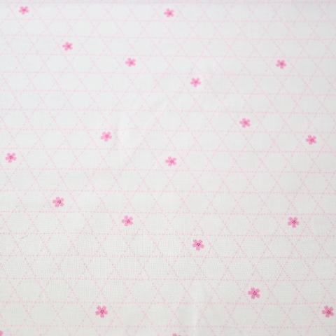 【30%OFF】生地 シーチングプリント 桜と籠目柄