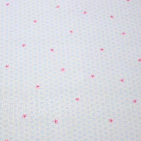 【30%OFF】生地 シーチングプリント 桜と青海波柄