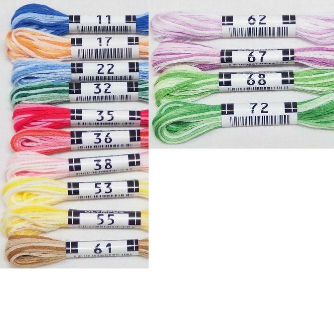 オリムパス25番刺繍糸 【ボカシ】