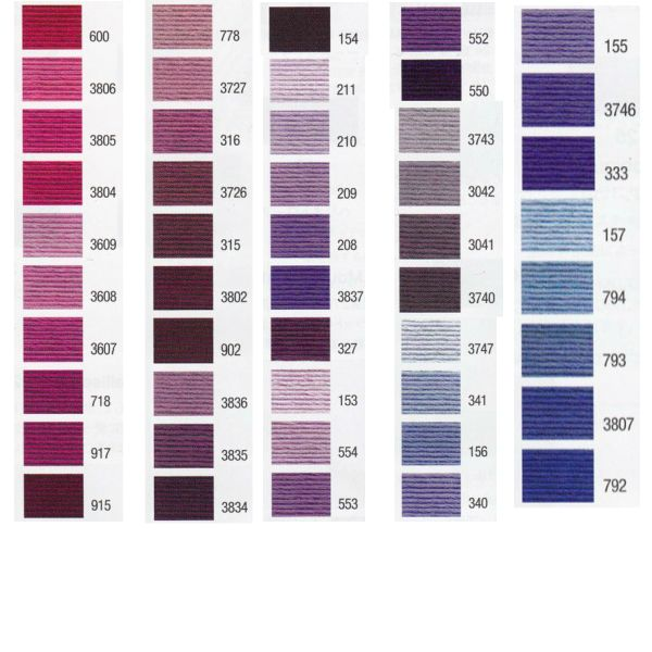 DMC 25番刺繍糸【赤・紫系】