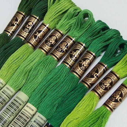 DMC 25番刺繍糸【緑系】(No.2)