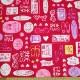 バービー オックスラミネート【50cmカットクロス】アイコン柄 ピンク