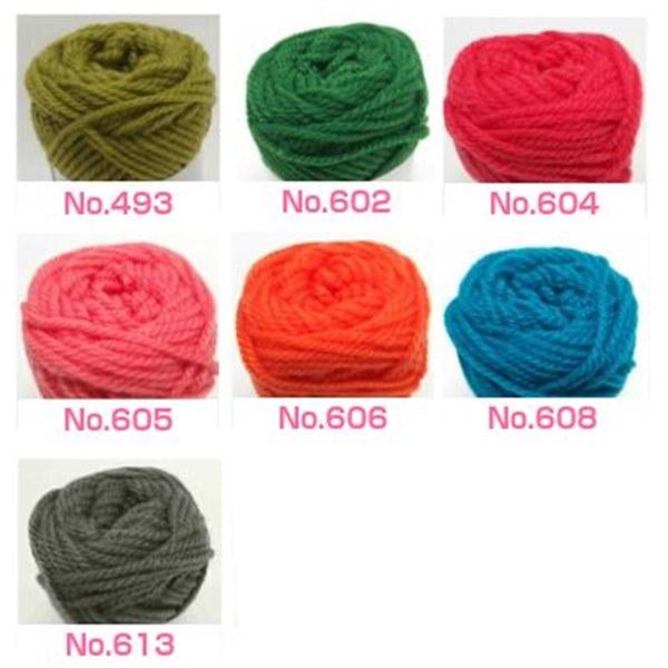 ボニーで編むリーフ柄の引き上げ編みバッグ キット(9玉セット)