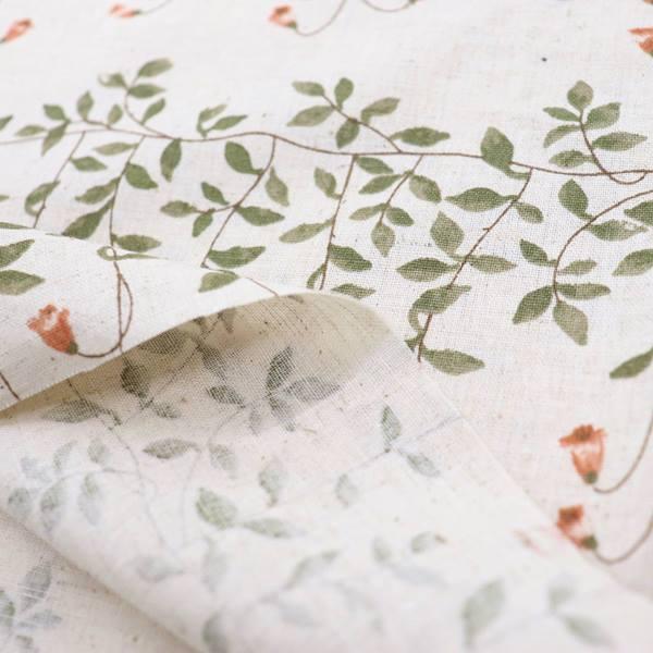 生地 綿麻シーチング(ソフリー加工)花柄