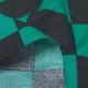 ブロードプリント 市松模様柄(グリーン×ブラック) (50cm単位)