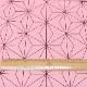 ブロードプリント 麻の葉柄(ピンク) (50cm単位)