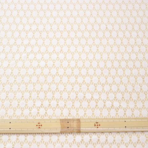 生地 ラッセルレース(100-10109)オフホワイト