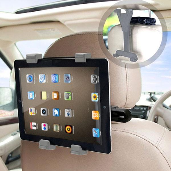 後部座席 スマホ タブレット 車載 ホルダー マウント B ヘッドレスト スマートフォン 携帯 iPhone iPad アイフォン アイパッド ネックレスト 棒 挟む 車 こども チャイルドシート 取付 固定 車載用 長距離 ドライブ youtube 映画 手ぶら 赤ちゃん 子供 子ども あやす
