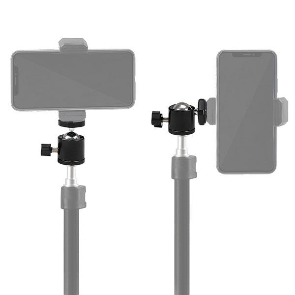 GoPro カメラ 対応 アクセサリー 360度 ボール ジョイント I型 パーツ デジタルカメラ アクションカメラ ウェアラブルカメラ デジカメ 取り付け アダプター 取付 パーツ マルチ 固定 万能 接続 雲台 360° 回転 アングル 角度 調整 L字 間接 カスタマイズ 撮影 照明