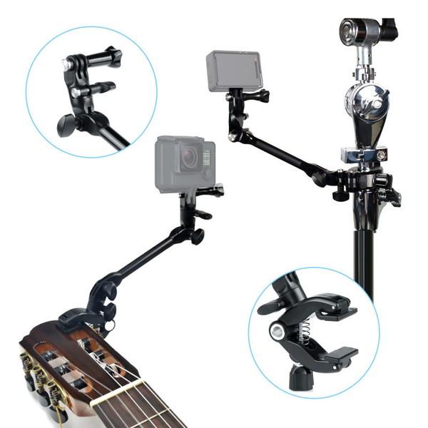 GoPro ゴープロ 9 8 7 対応 アクセサリー クランプ マウント Z型 携帯 アクションカメラ ウェアラブルカメラ gopro9 gopro8 gopro7