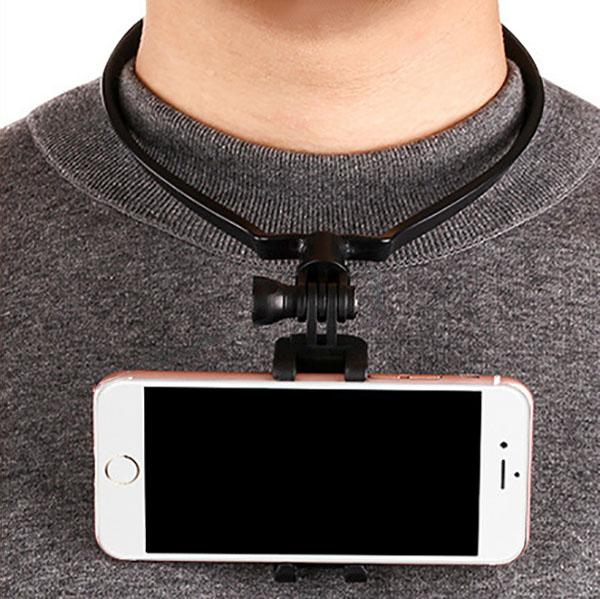 スマホ スマートフォン 携帯 ハンズフリーマウント 首 下げ ネック 首かけ ネックレス 取り付け 目線 ハンズフリー カメラ 手元 料理 調理 POV 撮影 主観映像 ウェアラブル アクションカメラ 安い セール アイフォン iPhone アンドロイド 取付