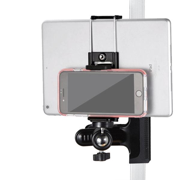 スマホ iPad mini タブレット 携帯 ホルダー クリップ マウント アクセサリー セット 車内 後部座席 ベビーカー スタンド テレワーク おうち時間 撮影 机 デスク 棚 パイプ 固定 挟む セール アイパッド ミニ アンドロイド アイフォン iPhone スマートフォン