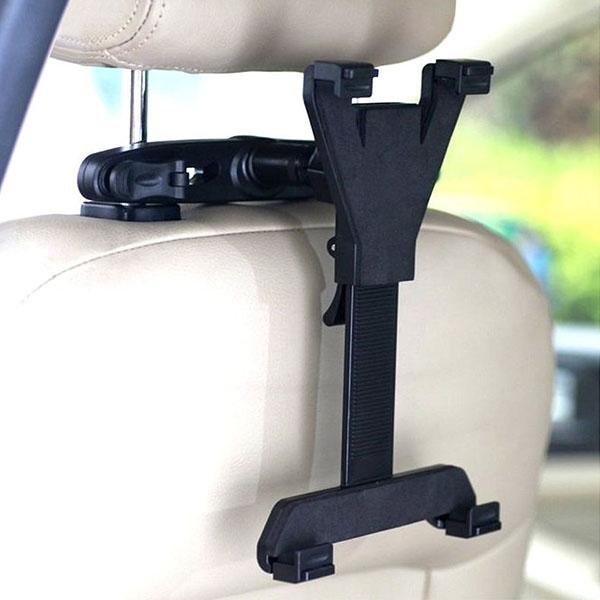 後部座席 タブレット 車載 ホルダー ヘッドレスト iPad アイパッド  Pro Air mini ネックレスト 棒 挟む 車 こども チャイルドシート 取付 固定 車載用 長距離 ドライブ 車載タブレットホルダー youtube ユーチューブ 映画 鑑賞 手ぶら 赤ちゃん 子供 子ども あやす