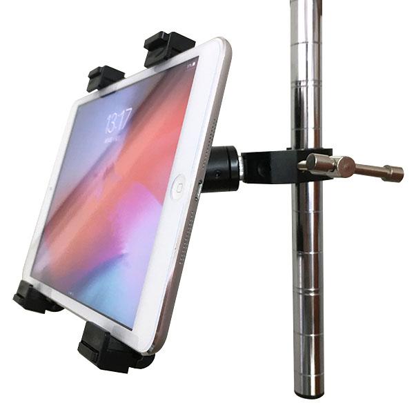 タブレット クランプ マウント ホルダー アクセサリー セット iPad アイパッド 取付 自転車 バイク ハンドルバー ベビーカー テレワーク おうち時間 固定 挟む クリップ スタンド 安い セール アクションカメラ 1/4 ネジ 三脚ネジ  取付け 可能