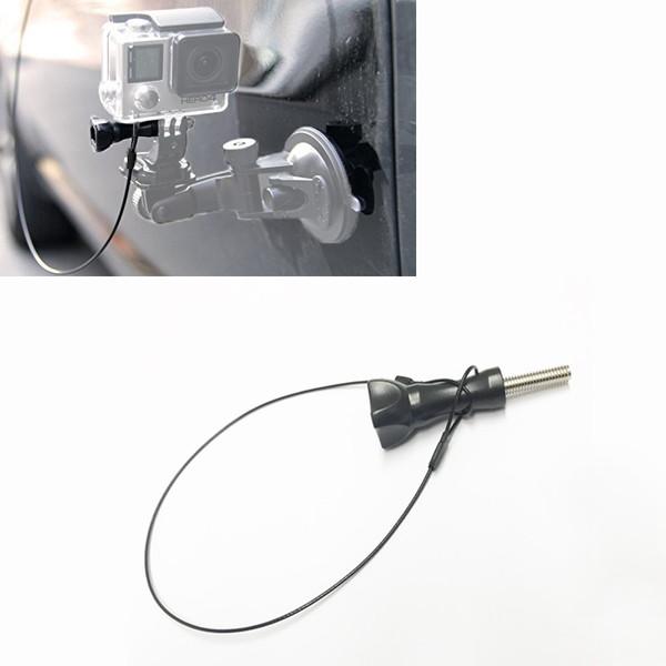 GoPro ゴープロ 9 8 7 対応 アクセサリー 紛失 落下防止 ワイヤー ストラップ ネジ & カラビナセット アクションカメラ ウェアラブルカメラ gopro9 gopro8 gopro7