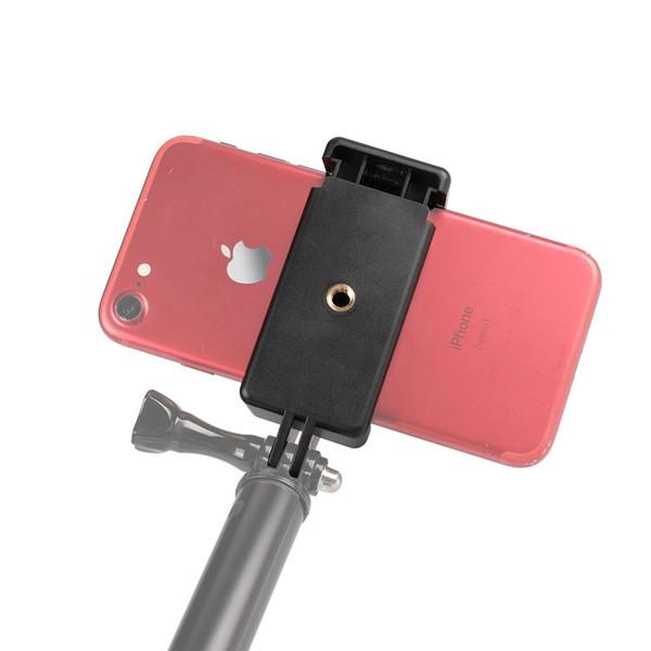 スマホ スマートフォン 携帯 GoPro マウント アクセサリー 挟む ホルダー クリップ アダプター ジョイント パーツ 車 自転車 ベビーカー 取り付け 接続 ホルダー スタンド 安い iPhone セール アンドロイド アイフォン マルチ 固定 万能 お得 ゴープロマウント 取付 可能