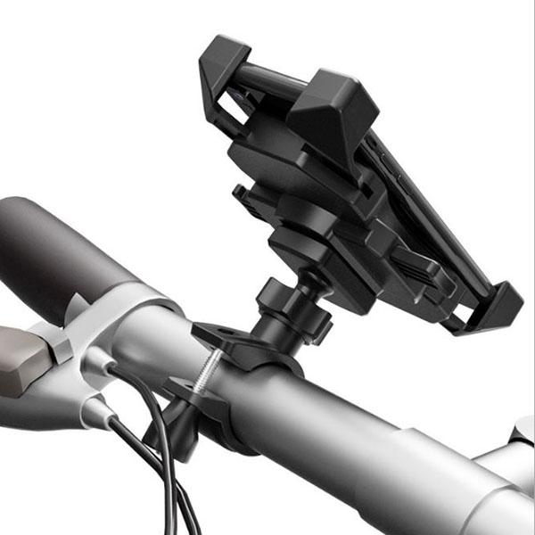 スマホ バイク 自転車 ハンドル スマートフォン 用 クイック リリース ホルダー マウント 携帯 アクセサリー クロスバイク ロードバイク ハンドルバー ベビーカー 固定 走行 撮影 取り付け ウーバーイーツ ウーバー Uber Eats スタンド iPhone アンドロイド アイフォン