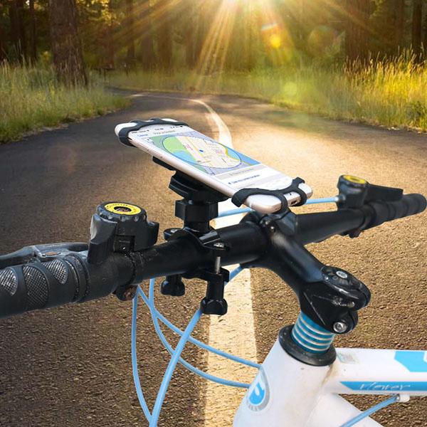 スマホ スマートフォン 携帯 用 ハンドル マウント ホルダー アクセサリー クロスバイク ロードバイク 自転車 ハンドルバー ベビーカー 固定 走行 撮影 取り付け ウーバーイーツ ウーバー Uber Eats スタンド 安い セール  iPhone アンドロイド アイフォン パーツ 取付