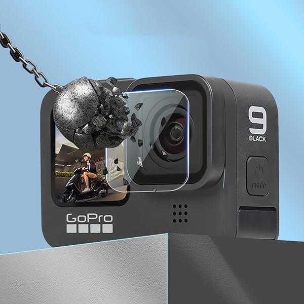 GoPro ゴープロ 9 用 アクセサリー レンズ & スクリーン 強化 フィルム 3枚 セット gopro9
