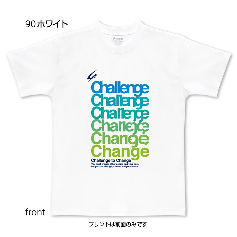 Change柄ブルーグリーン(前面プリントTシャツ)