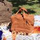 柳キャンバス ランチバッグ Sサイズ (4色) CARMELINA / カルメリーナ WPL md