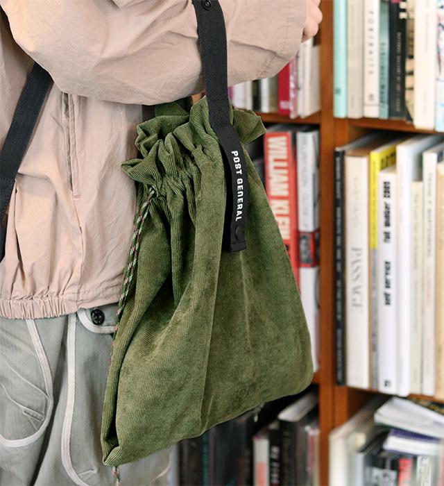 パッカブル コーデュロイバッグ 3色 POSTGENERAL / ポストジェネラル エコバッグ 秋冬 コンビニバッグ
