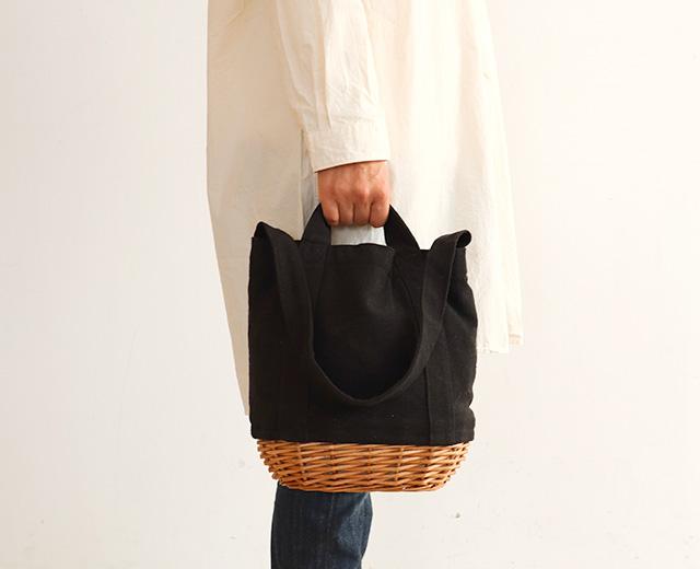 柳キャンバスバッグS (3色) CARMELINA / カルメリーナ