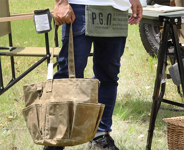 ワックスドキャンバス ツールバッグ ラウンド POST GENERAL / ポストジェネラル