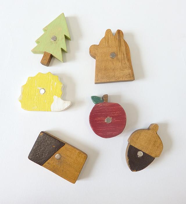 木製マグネット (お家セット/りんごセット) NEIN MARKE / ナインマーケ